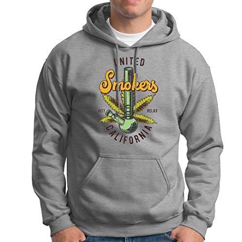 LuckyTshirt United Smokers T Hoodie Sweatshirts California Weed Just Relax Dope Bhang-S