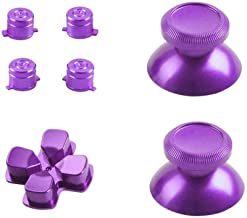 Replacement metal aluminum bulletproof buttons for PlayStation 4 controllers