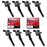 MAS Ignition Coils DG508 and OEM Spark Plugs SP413 Compatible with Ford F-150 Mustang V8 4.6L pack of 8