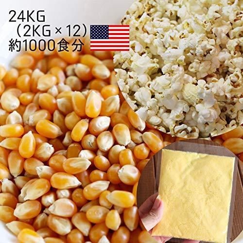 ポップコーン用専用豆シーズニングソルト付き24kg 2kg×12袋(爆裂種) 1000食分