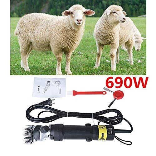 Vinteky 690W Cheveux de tondeuse à moutons/ Tondeuse électrique pour mouton et chèvres/ Machine tondeuse pour moutons/cisailler à mouton avec le câble d'alimentation de 5 m