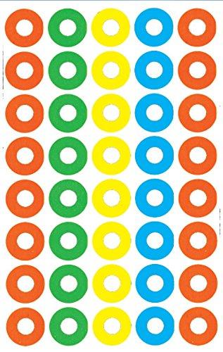 AVERY Zweckform 3055 Verstärkungs Ringe (Folie, reißfest) 160 Aufkleber bunt
