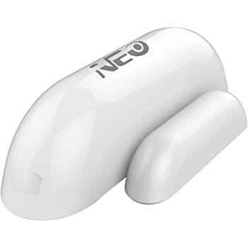 NEO Z-Wave Plus Door/Window Sensor Mini Sized Smart Home Automation Security, Magnetic, Work with Wink, Aeotec, Iris and Vera