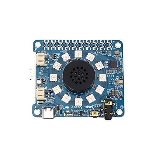 Katigan für Raspberry Pi Voice HAT, WM8960 Lautsprecher 1W VersttRker Doppel Mikrofon Modul für Raspberry Pi 4 Modell B / 3B + / 3B