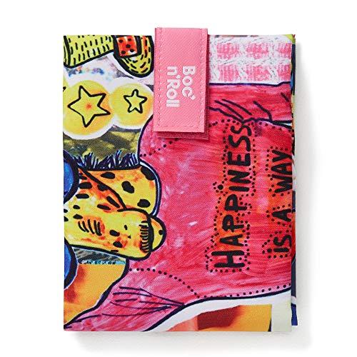 Roll'eat - Boc'n'Roll Teens Girls | Bolsa Merienda Porta Bocadillos, Envoltorio Reutilizable y Ecológico sin BPA, Giraffe