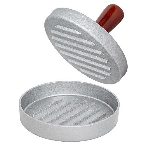TecTake Hamburgerpresse Burgerpresse - diverse Farben und Größen - (1 Stück single braun | Nr. 401262)