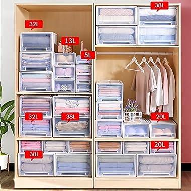 Multifunctional Storage Box Drawer Type Plastic Storage Box Household Living Room Bedroom Storage Box Transparent Storage Cab