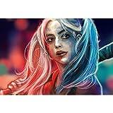 YIYEBAOFU Gemalde Abstrakt süße Harley Quinn Canvas Geschenk Bilder Artwork für Schlafzimmer Home...
