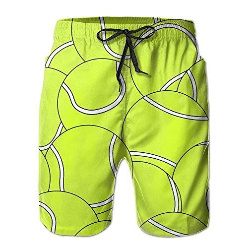 Preisvergleich Produktbild ASTTLE Men's Tennis Ball Printing Quick-Dry Summer Beach Surfing Board Shorts Swim Trunks Cargo Shorts, M