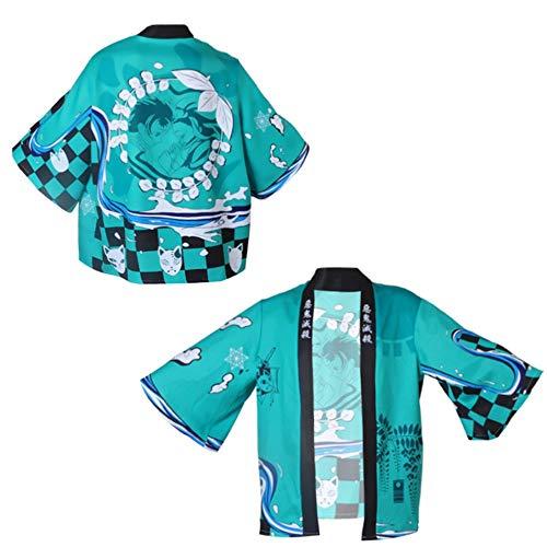 Z-Life Anime Kimono Demonio Slayer Kimetsu No Yaiba Japn Kimono Haori Yukata Cosplay Disfraz para Mujeres Hombres Ropa Casual Chaquetas (Color : 04, Size : Adult)