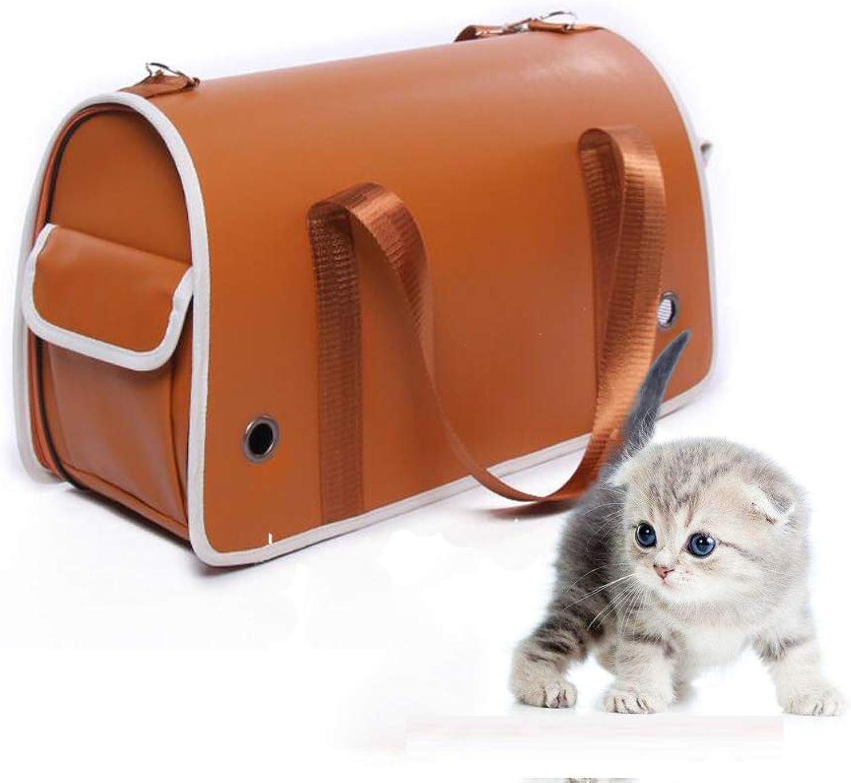 Pet Carrier Seat Pet Backpack, Waterproof and Breathable Pet Backpack Shoulder Bag, Outdoor Travel, Biking Trip, Hiking Pet Carrier Crate