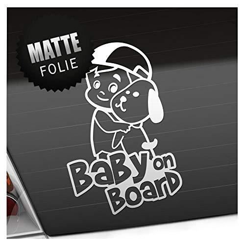 Babyaufkleber Junge Hund Cappy Sticker 25 Farben Baby on Board 24cm