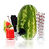 Party On Tap Watermelon Tap Kit - Keg Spout, Coring Kit, Straws, Instructions Included - Great For Dispensing Juice, Alcohol, Or any Other Beverage At Your Next Party