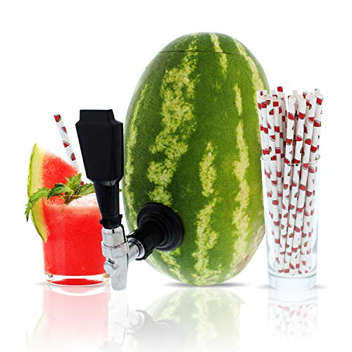 Party On Tap Watermelon Tap Kit - Keg Spout, Coring Kit, Straws, Instructions Included - Great For...