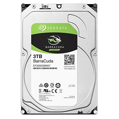 Seagate BarraCuda 3.5インチ 3TB 内蔵ハードディスク HDD 2年保証 6Gb/s 256MB 5400rpm 正規代理店品 ST3000DM007/FFP