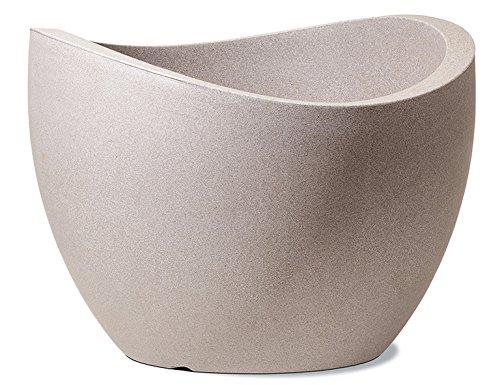 Scheurich 53385 250/50 Wave Globe Pot de Fleurs Plastique Granit Taupe 50 x 50 x 37 cm