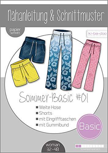Schnittmuster kibadoo Mix&Match Sommer Basic Hose weit Papierschnittmuster