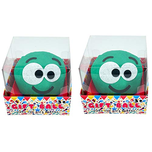 CUQOO Pass the Parcel Snowman or Sprout Christmas Game, Novelty Family Xmas Party Game, Including 8 Novelty Prizes and Gifts (Sprout x 2)