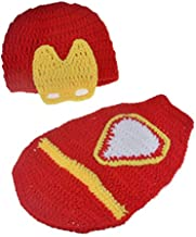 Pinbo Newborn Boys Baby Photography Prop Crochet Knitted Iron Hat Cover