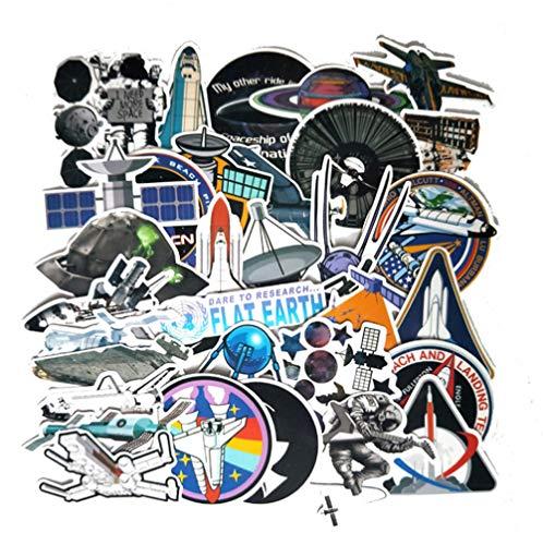 QIANGWEI 34 Fun Astronaut Vliegtuig Raket Stickers Bagage Laptop Koelkast Motorfiets Scooter Stickers