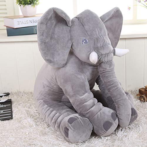 Wanshix Elefante Gigante De Peluche,Juguete Suave Almohada De Elefante, Elefante Almohada Sofá Cojín Elefante Juguetes, Recién Nacidos(Gris, Morado, Azul, Amarillo, Rojo, Rosa)