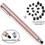 Bargains Depot B und D Stylus Stift Touch Pen Eingabestift Kapazitiven Touchscreen mit 20 x Ersatzspitzen für Tablet iPad iPhone Samsung Galaxy Tab (Rose Gold)
