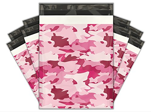 """200 10x13 Pink Camouflage /""""CAMO/"""" Poly Mailer Custom Shipping Boutique Bags"""
