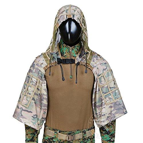 Traje De Camuflaje Traje Sniper Juego Del Ghillie Base Ghillie Vbora Capucha (CP Camo)