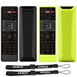 [2 Pack] Akwox Remote Case for Vizio XRT122 Smart TV Remote, Lightweight Anti-Slip Shockproof Silicone Cover for Vizio XRT122 LCD LED TV Remote Controller with Lanyard - Black Green