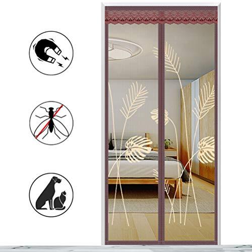 AIYYJ Mosquitera mosquitera Cortina de Malla Mosquitera, Instalación de Adhesivo de Cortina magnética sin perforación, para Puertas corredizas de balcón Sala de Estar,80 * 210cm