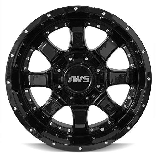 Partsynergy Replacement For 17 Inch Painted Black Wheels Rim 6x139.7 6x135-12mm Fits Ford Chevy GMC - Set Of 4