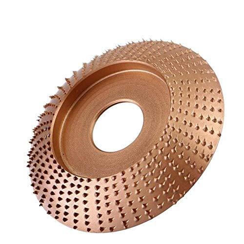 Muela de amolar en ángulo de madera Herramienta rotativa de tallado de lijado Disco abrasivo Amoladora de ángulo Revestimiento de carburo de tungsteno Forma de 22 mm, oro rosa