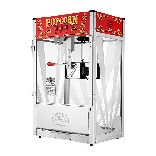 Best commercial popcorn machine - Great Northern Popcorn 6222 GNP 16 Oz. Top 4-in-1 MultiGrill Plus, 16 Ounce, Silver/red