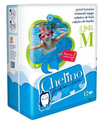 Chelino Fashion & Love - Pannolino per bambini, taglia M, 12 pannolini - [confezione da 3]