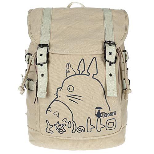 Totoro Leinen Rucksack im Seesack-Design