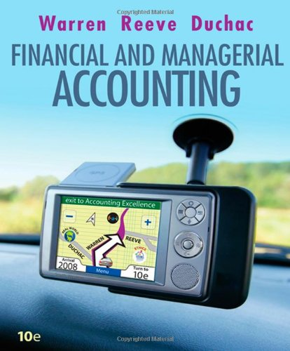 Financial and Managerial Accounting (Available Titles Cengagenow)