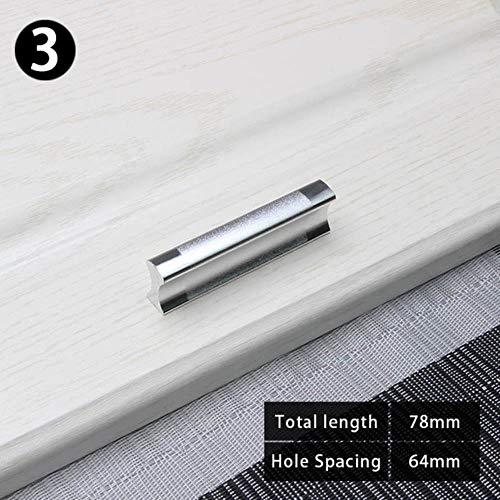 XCVB aluminium kast Hardware kast metalen keuken lade knoppenhandvat keukenkast deur trekt voor meubels, 64mm