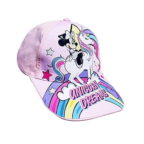 Casquette pour enfant avec visière Minnie Mouse, modèle licorne, idéale pour les filles de 3 à 12 ans. Produit officiel Disney.