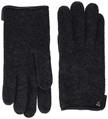 Roeckl Herren Klassischer Walkhandschuh Handschuhe, Schwarz (Anthracite 090), 8