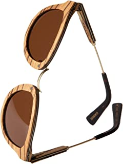 2d06cace37 WOLA redonda gafas de sol en madera AQUA mujer y hombre madera, sunglasses  UV400 -