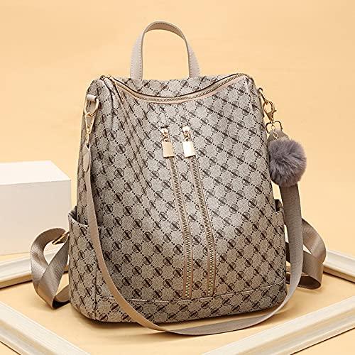 Damen Leder Rucksack Retro-Stil diebstahlsichere Schultasche große Kapazität Reisetasche wasserdichter Damen Designer Rucksack