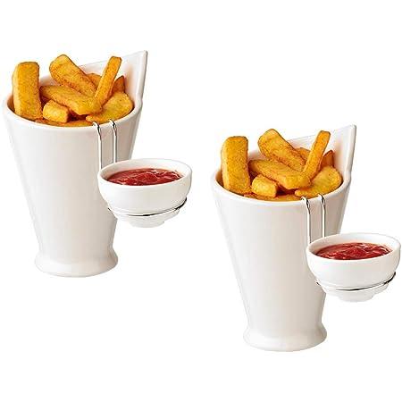 Kerafactum Pommesschale Snack Wurst Schale f/ür Pommes Frites Currywurst Melamin Sp/ülmaschinen geeignet eckig 19 x 13,5 cm Mehrweg Wurstschale W/ürstchenteller Snackschale f/ür Imbiss 2 St/ück