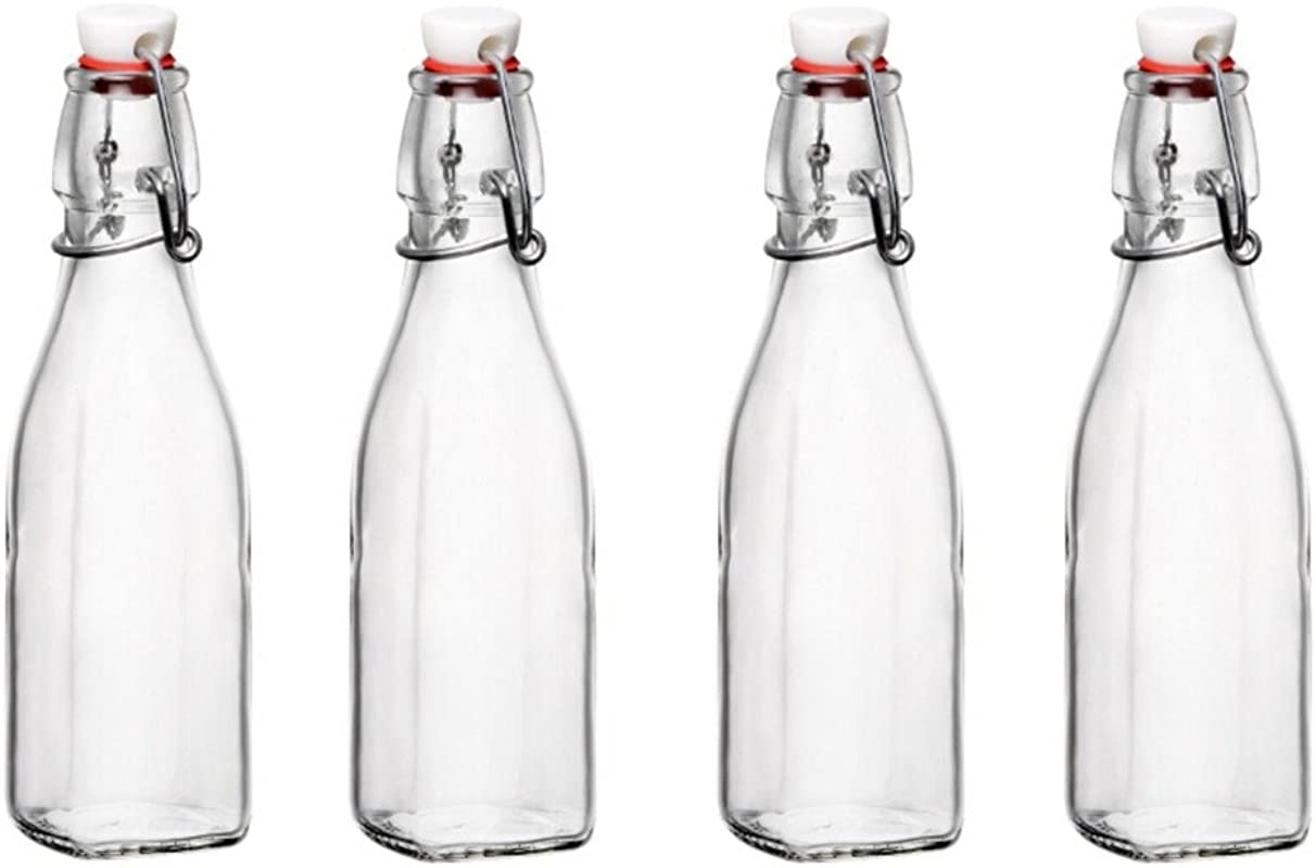 Bormioli Rocco Glass 8 5 Ounce Swing Top Bottle Set Of 4