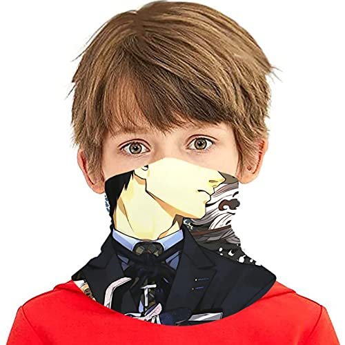 LAOLUCKY Tokyo Ghoul Koutarou Dragon Neck Gaiter With 10 Filter UV Protection Ice Silk Scarf Windproof Bandanas Dustproof for Outdoor Sports Daily Wear