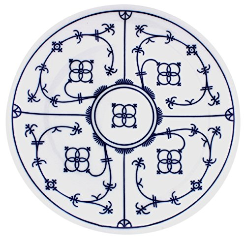 Eschenbach Porzellan Group Tallin Indischblau Teller flach Coup 26 cm, Porzellan, Indigoblau, 1 x 1 x 1 cm
