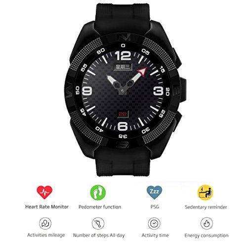 Pinkbenmus - Reloj Inteligente/Reloj Inteligente con Camara Impermeable, Micrófono Anti-Ruido, Monitor de Ritmo cardiaco Profesional, Anti-Lost de Dos vías