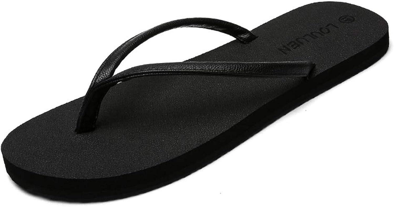PFMY.DG Summer Couple Flip Flops Men and Women Pinch Flip Flop Vacation Beach shoes Flat Sandals