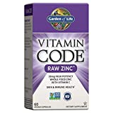 Garden of Life Vitamin Code Raw Zinc, 30mg Whole Food Zinc Supplement +...