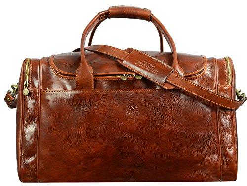 Reisetasche / Reisetasche aus Leder, Braun, cognac (Braun) - 5191701
