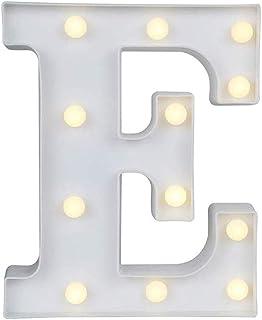Zahlen Deko Lampe Schriftzug Schild beleuchtet Alphabet Weiß LED Zahlen 22 cm
